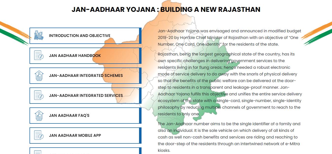 Rajasthan Jan Aadhaar Yojana राजस्थान जन आधार कार्ड पंजीकरण